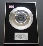 DAVID BOWIE - ROCK 'N' ROLL SUICIDE PLATINUM Single Presentation DISC